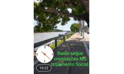 BARÃO SEGUE ORIENTAÇÕES DO MINISTÉRIO DA SAÚDE POR ISOLAMENTO SOCIAL
